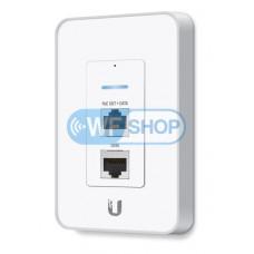 Точка доступа Ubiquiti UniFi AP In-Wall 2,4ГГц настенного исполнения с розеткой RJ45 и PoE