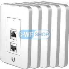 Точка доступа Ubiquiti UniFi In-Wall (5-Pack) комплект из 5-ти точек доступа 2,4ГГц